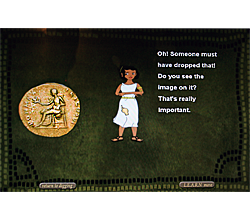 Image of one of the screens from the Roman Town game.